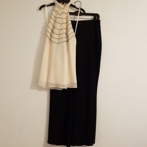 Jessica Howard 2 piece Halter Pants Set Size 12
